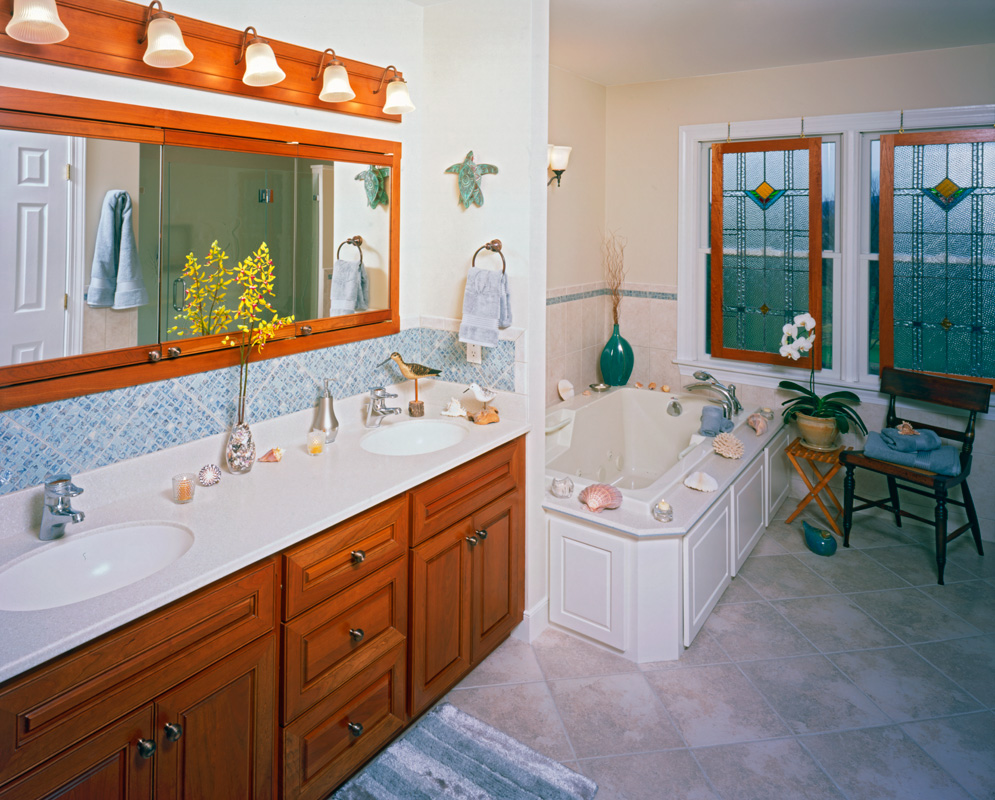 Kitchen and bathroom photo blue and brown bathroom ideas for Bath remodel baltimore